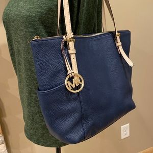 Michael Kors Leather Navy Tote